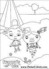Pintar e Colorir Franny - Desenho 003