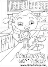Pintar e Colorir Franny - Desenho 004