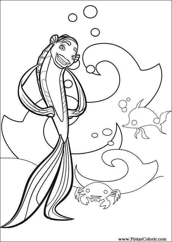 Disegni Per Dipingere Colour Shark Tale Stampare Realizzazione 008