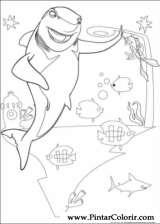 Pintar e Colorir Gang Dos Tubaroes - Desenho 006