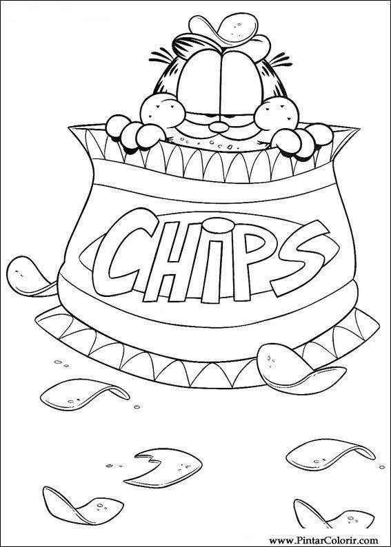 desenhos para pintar e colorir garfield imprimir desenho 048