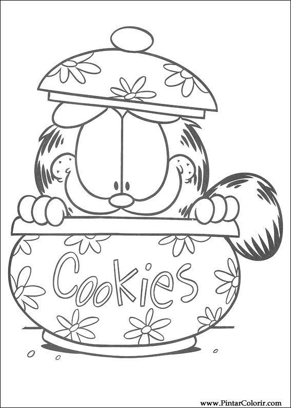 Desenhos Para Pintar E Colorir Garfield Imprimir Desenho 101