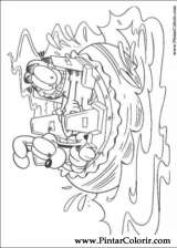 Pintar e Colorir Garfield - Desenho 001