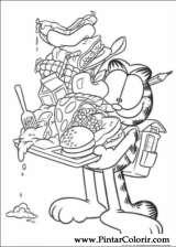 Pintar e Colorir Garfield - Desenho 006