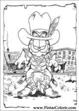 Pintar e Colorir Garfield - Desenho 008
