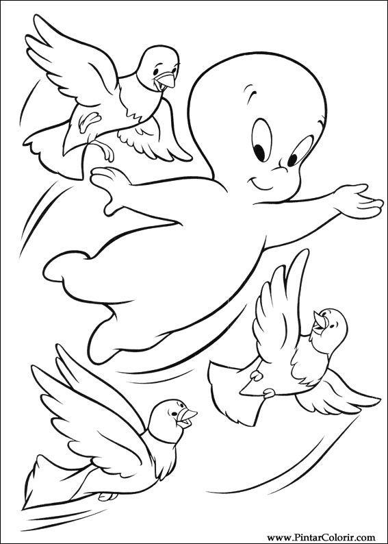 Pintar e Colorir Gasparzinho - Desenho 002