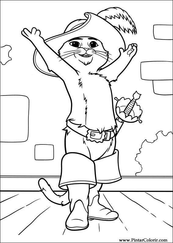 Dibujos Para Pintar Y Color Botas Cat Diseño De Impresión 026