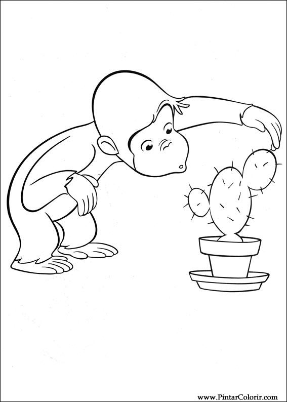 Disegni Per Dipingere Colour Curious George Stampare