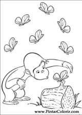 Pintar e Colorir George Curioso - Desenho 019