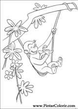 Pintar e Colorir George Curioso - Desenho 036