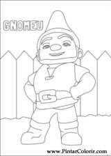 Pintar e Colorir Gnomeu Julieta - Desenho 002