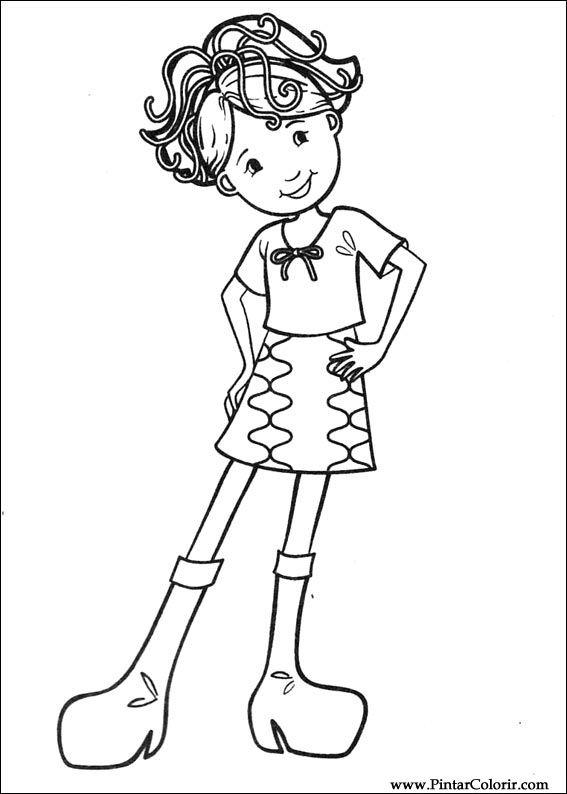 çizimler Boya Ve Renk Groovy Kızlar Için Baskı Tasarım 003