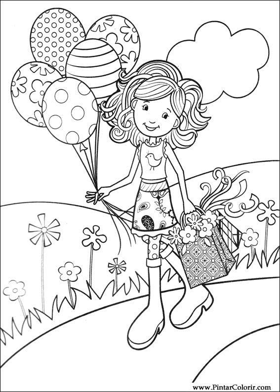 çizimler Boya Ve Renk Groovy Kızlar Için Baskı Tasarım 007