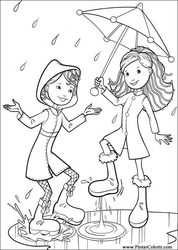 çizimler Boya Ve Renk Groovy Kızlar Için Baskı Tasarım 043