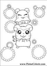 Pintar e Colorir Hamtaro - Desenho 017