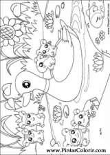 Pintar e Colorir Hamtaro - Desenho 018