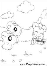 Pintar e Colorir Hamtaro - Desenho 021