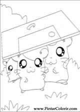 Pintar e Colorir Hamtaro - Desenho 023