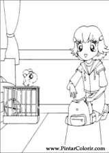 Pintar e Colorir Hamtaro - Desenho 030
