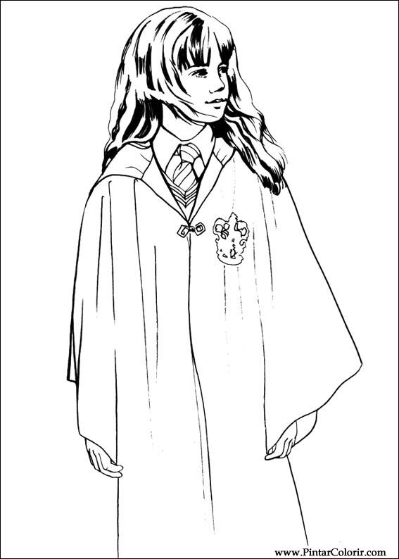 Pintar e Colorir Harry Potter - Desenho 002