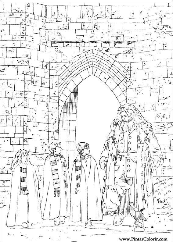 Desenhos Para Pintar E Colorir Harry Potter Imprimir Desenho 004