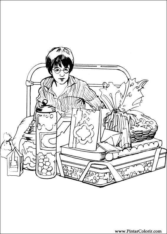 Pintar e Colorir Harry Potter - Desenho 007