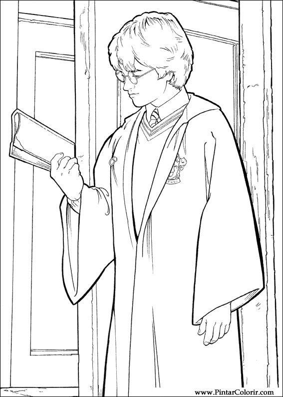Desenhos Para Pintar E Colorir Harry Potter Imprimir Desenho 016