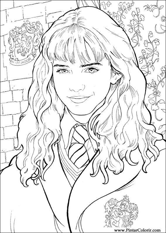 Desenhos Para Pintar E Colorir Harry Potter Imprimir Desenho 019