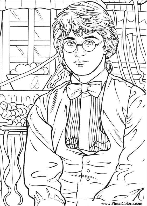 Pintar e Colorir Harry Potter - Desenho 045