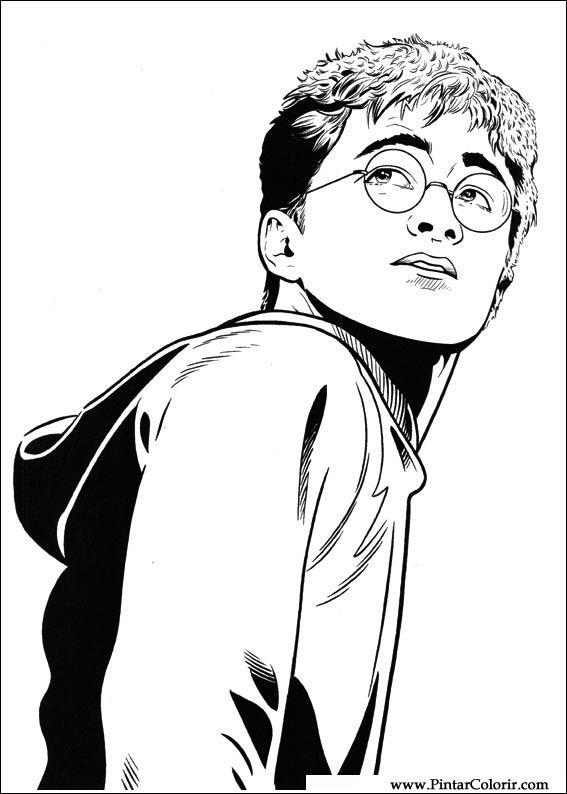 Dibujos Para Pintar Y Color Harry Potter Diseno De Impresion 052