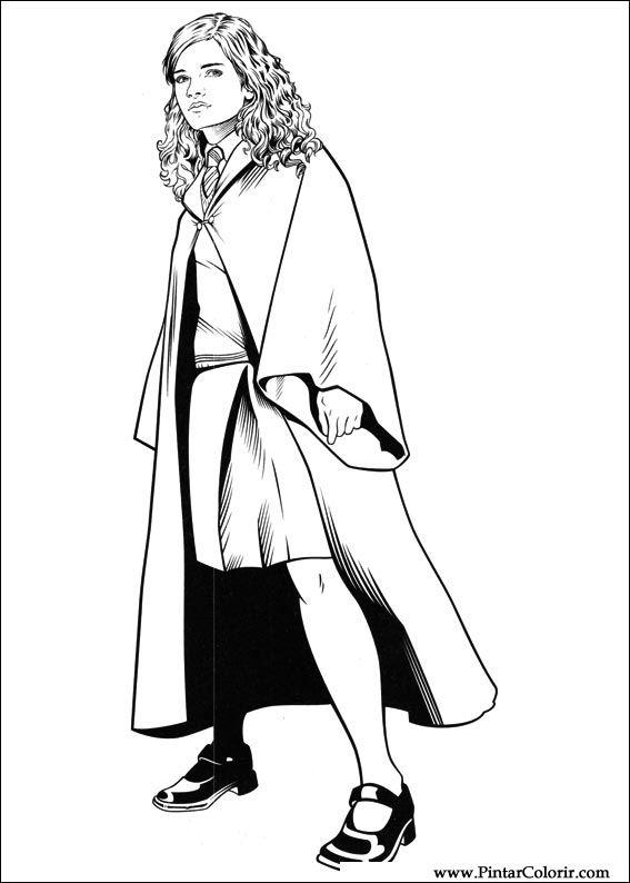 Dibujos para pintar y Color Harry Potter - Diseño de impresión 053