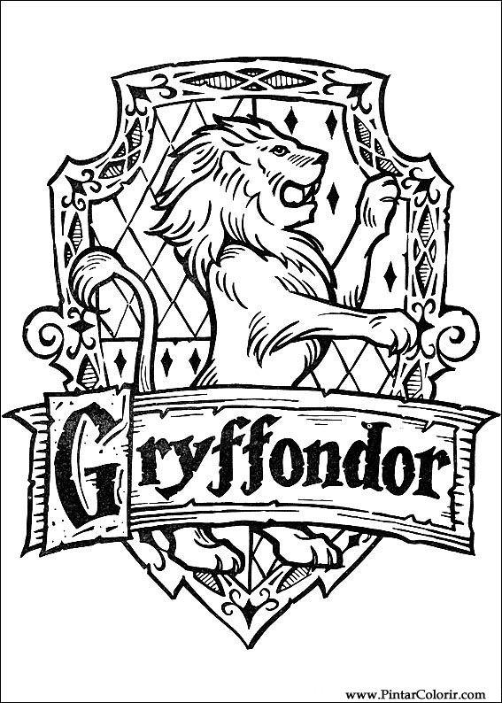 Dibujos para pintar y Color Harry Potter - Diseño de impresión 061