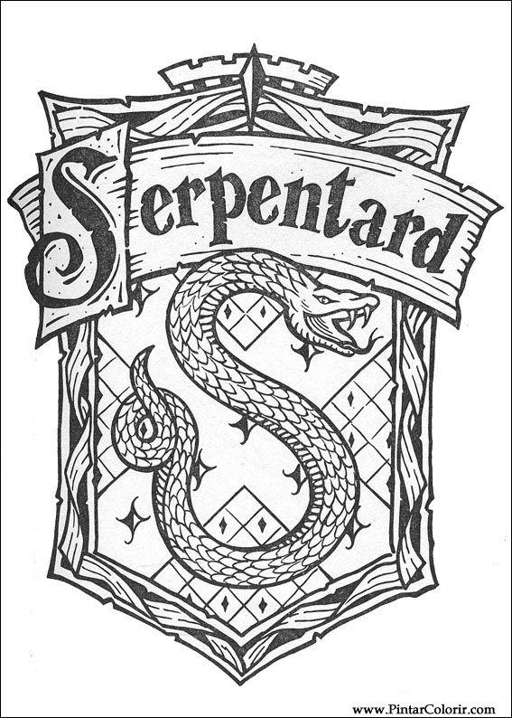 Dibujos Para Pintar Y Color Harry Potter Diseño De Impresión 068