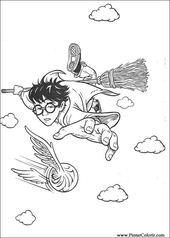 Dibujos para pintar y Color Harry Potter - Diseño de impresión 070