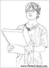 Pintar e Colorir Harry Potter - Desenho 001