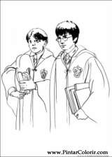 Pintar e Colorir Harry Potter - Desenho 003