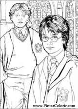 Pintar e Colorir Harry Potter - Desenho 010