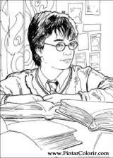 Pintar e Colorir Harry Potter - Desenho 020