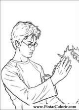 Pintar e Colorir Harry Potter - Desenho 026