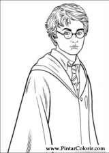 Pintar e Colorir Harry Potter - Desenho 027