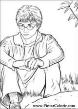 Pintar e Colorir Harry Potter - Desenho 032