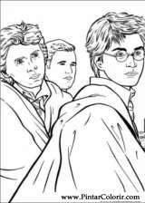 Pintar e Colorir Harry Potter - Desenho 035