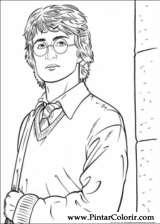 Pintar e Colorir Harry Potter - Desenho 049