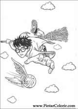 Pintar e Colorir Harry Potter - Desenho 070
