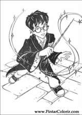 Pintar e Colorir Harry Potter - Desenho 073