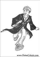 Pintar e Colorir Harry Potter - Desenho 079
