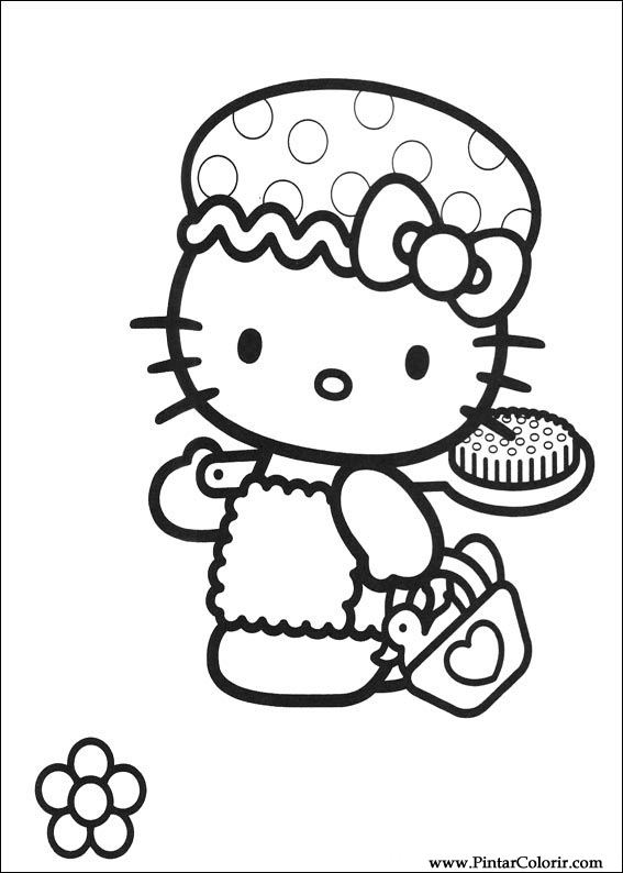Drawings To Paint Colour Hello Kitty Print Design 002