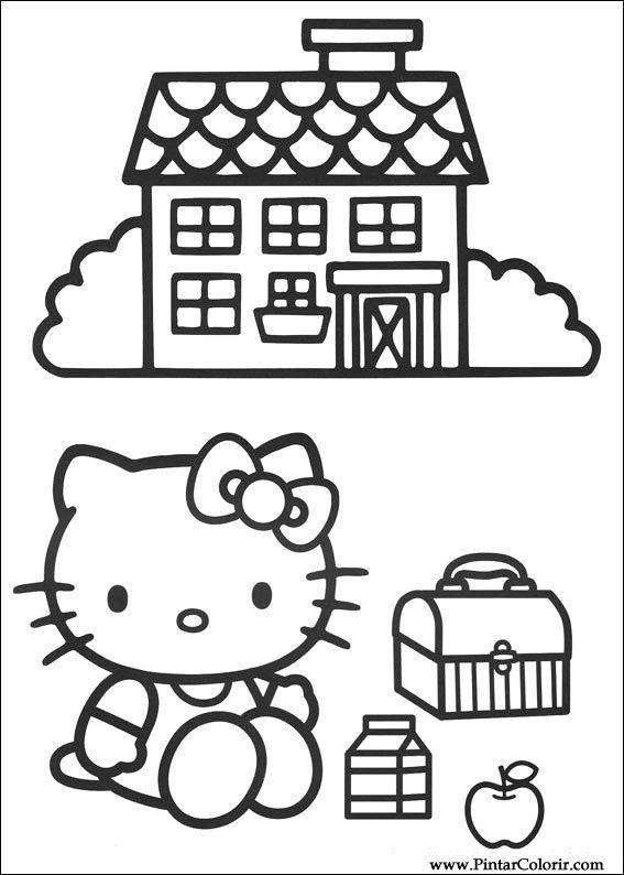 Desenhos Para Pintar E Colorir Hello Kitty Imprimir Desenho 003