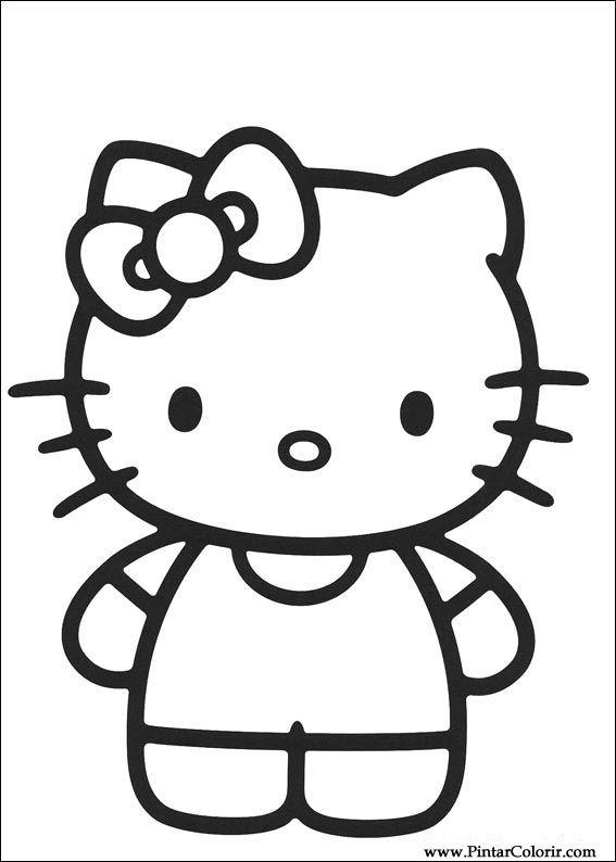 Dibujos para pintar y Color Hello Kitty - Diseño de impresión 007