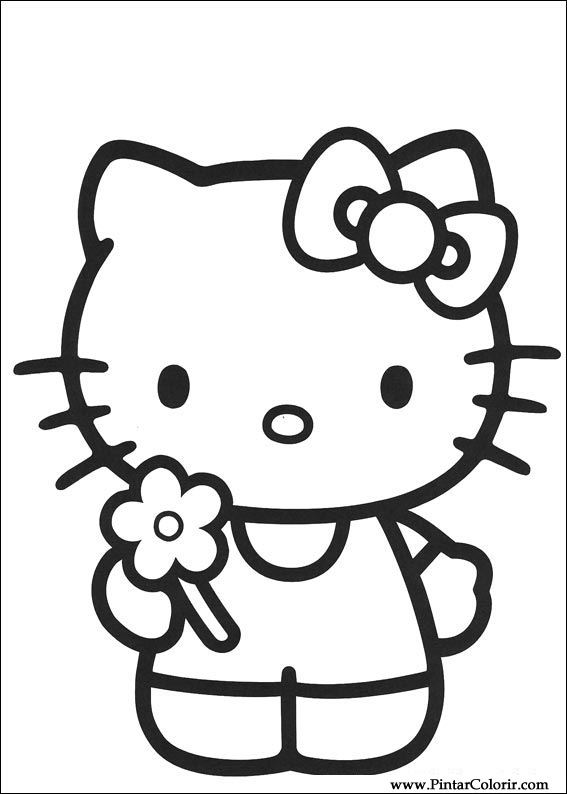 Desenhos Para Pintar E Colorir Hello Kitty Imprimir Desenho 008